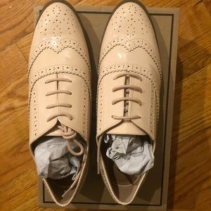 Nude/blush Oxford flat shoes brand new